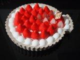食品サンプル フェイクスイーツ 丸いちごタルトホールケーキ2(大 直径16cm) 皿なし 苺改新版!