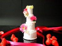ウエルカムケーキ リングピロー 食品サンプル 小サイズ ウェディングケーキ