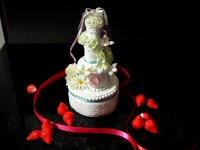 リングピロー ウェディンググッズ ウエルカムグッズ 食品サンプル中サイズ ウェディングケーキ ウエルカムボードプレゼント付 白