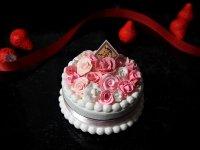 食品サンプル バラのケーキ型 ピンク マグネット 小物入れ 撮影小物にも!