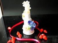 ウエルカムケーキ リングピロー 食品サンプル中サイズ ウェディングケーキ