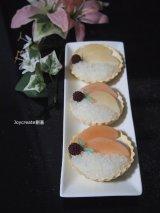 食品サンプル 桃&ラズベリー一口タルト3個セット 撮影小物にも!